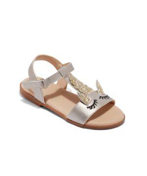Sandales Fille - Sandale Ouverte Argent Jina - 1028-9