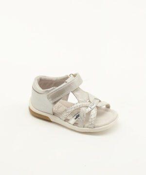 Sandales Bébé Fille - Bottillon Ouvert Argent Jina - 35360