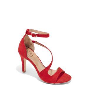 Sandales À Talons Femme - Sandale Talon Decrochee Rouge Jina - Gf71-2a