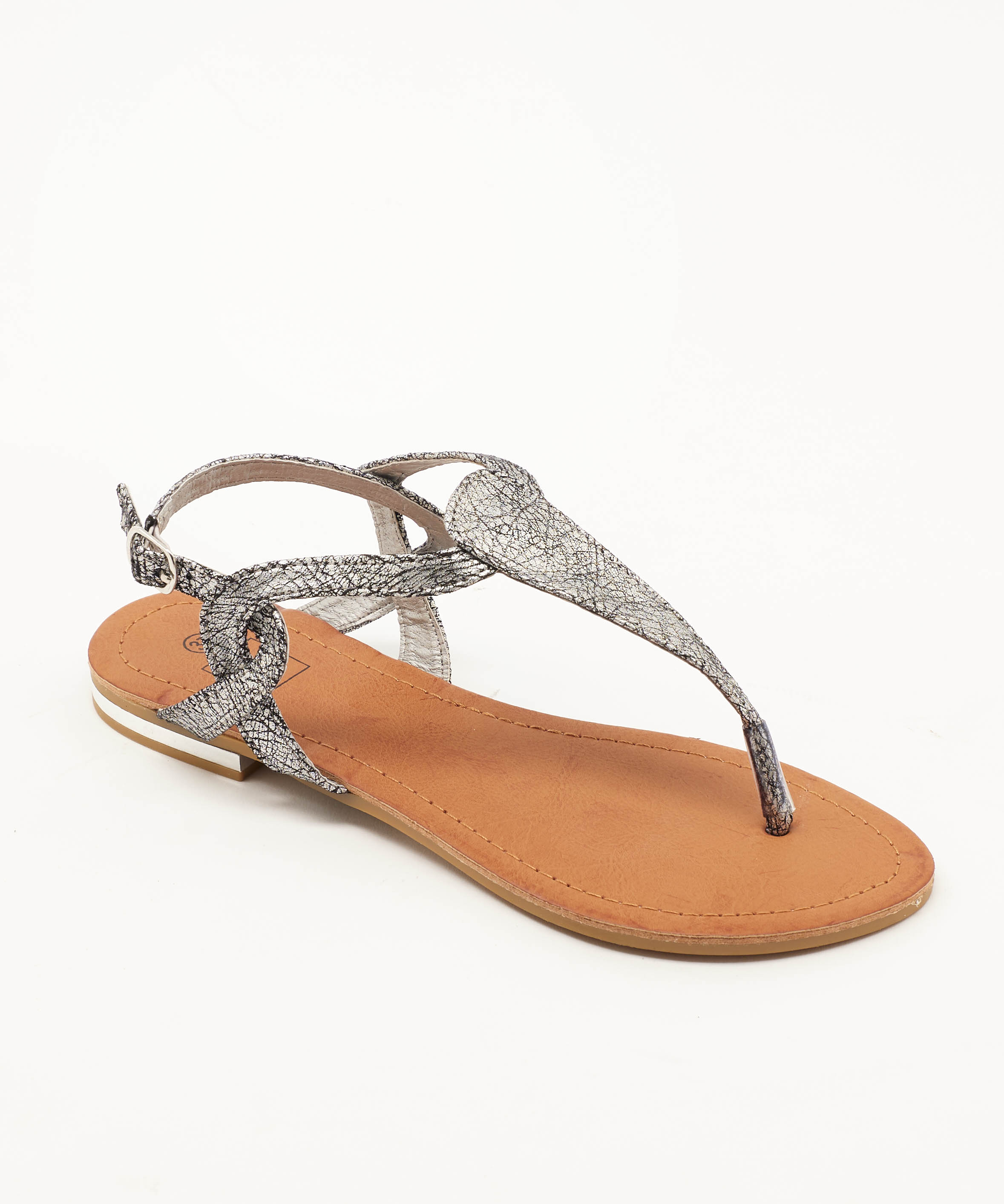 Sandales Plates Femme - Sandale Plate Argent Jina - Naema