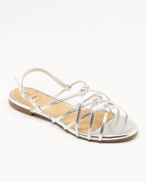 Sandales Plates Femme - Sandale Plate Argent Jina - Zh1386-001