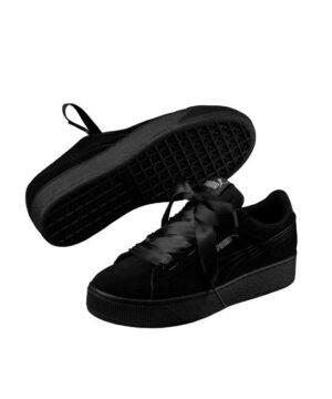 Baskets Femme - Basket Noir Puma - Vikky Platf Ribbon S 366418 01