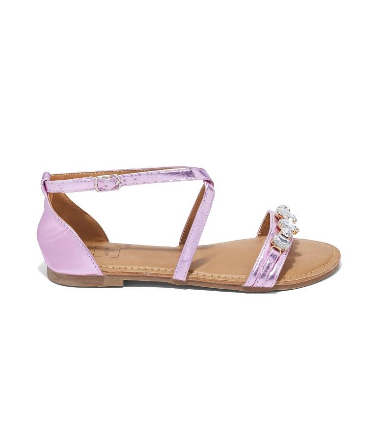 Sandales Plates Femme - Sandale Plate Rose Jina - New Style 1