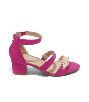 Sandales À Talons Femme - Sandale Talon Decrochee Fushia Jina - Ls1682-Df2