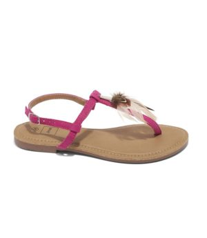 Sandales Plates Femme - Sandale Plate Fushia Jina - Rs230-39