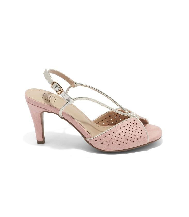 Sandales À Talons Femme - Sandale Talon Decrochee Rose Jina - Hsl633