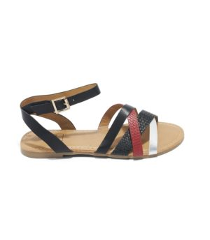 Sandales Plates Femme - Sandale Plate Noir Jina - Rs230-46