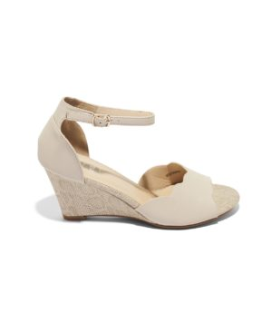 Sandales Compensées Femme - Sandale Talon Compensee Beige Jina - 15c1289-028