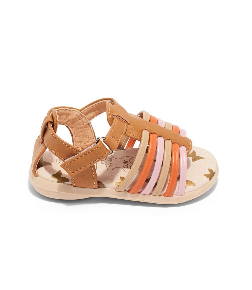 Sandales Bébé Fille - Sandale Ouverte Camel Jina - Ydx0180b-2