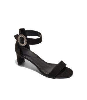 Sandales À Talons Femme - Sandale Talon Decrochee Noir Jina - Fs064924a