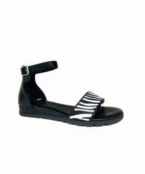 Sandales Compensées Femme - Sandale Talon Compensee Noir Jina - Fs19-112904