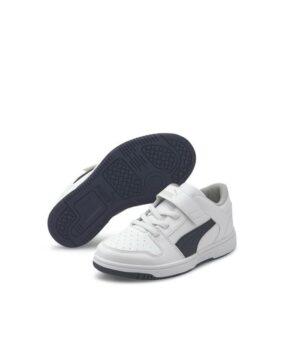 Baskets Garçon - Skate Blanc Puma - 370492 Rebound Layup Lo Sl
