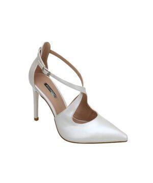 Escarpins Femme - Escarpin Ferme Blanc Jina - B1-347a