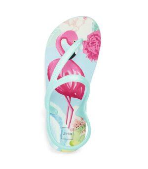 Tongs Femme - Tong Vert Jina - Flamingo Pe