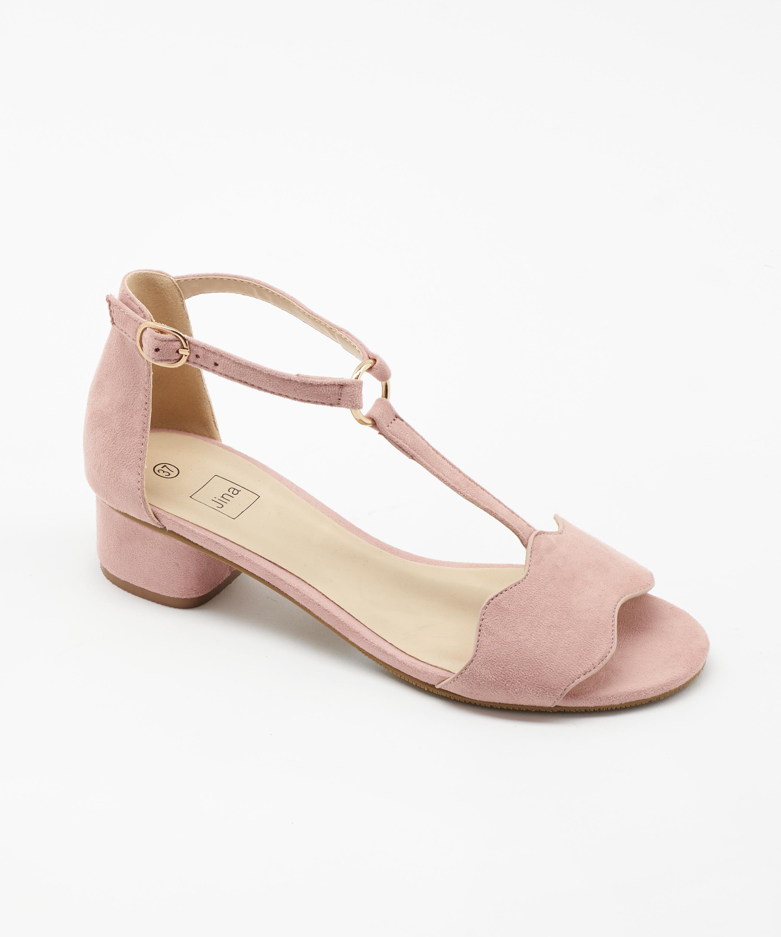 Sandales À Talons Femme - Sandale Talon Decrochee Rose Jina - Style 4