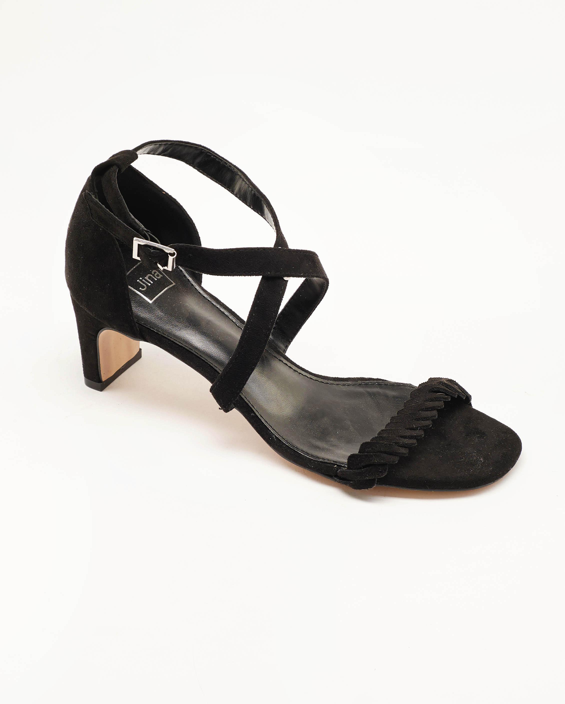 Sandales À Talons Femme - Sandale Talon Decrochee Noir Jina - Mgs5b-S4c-9