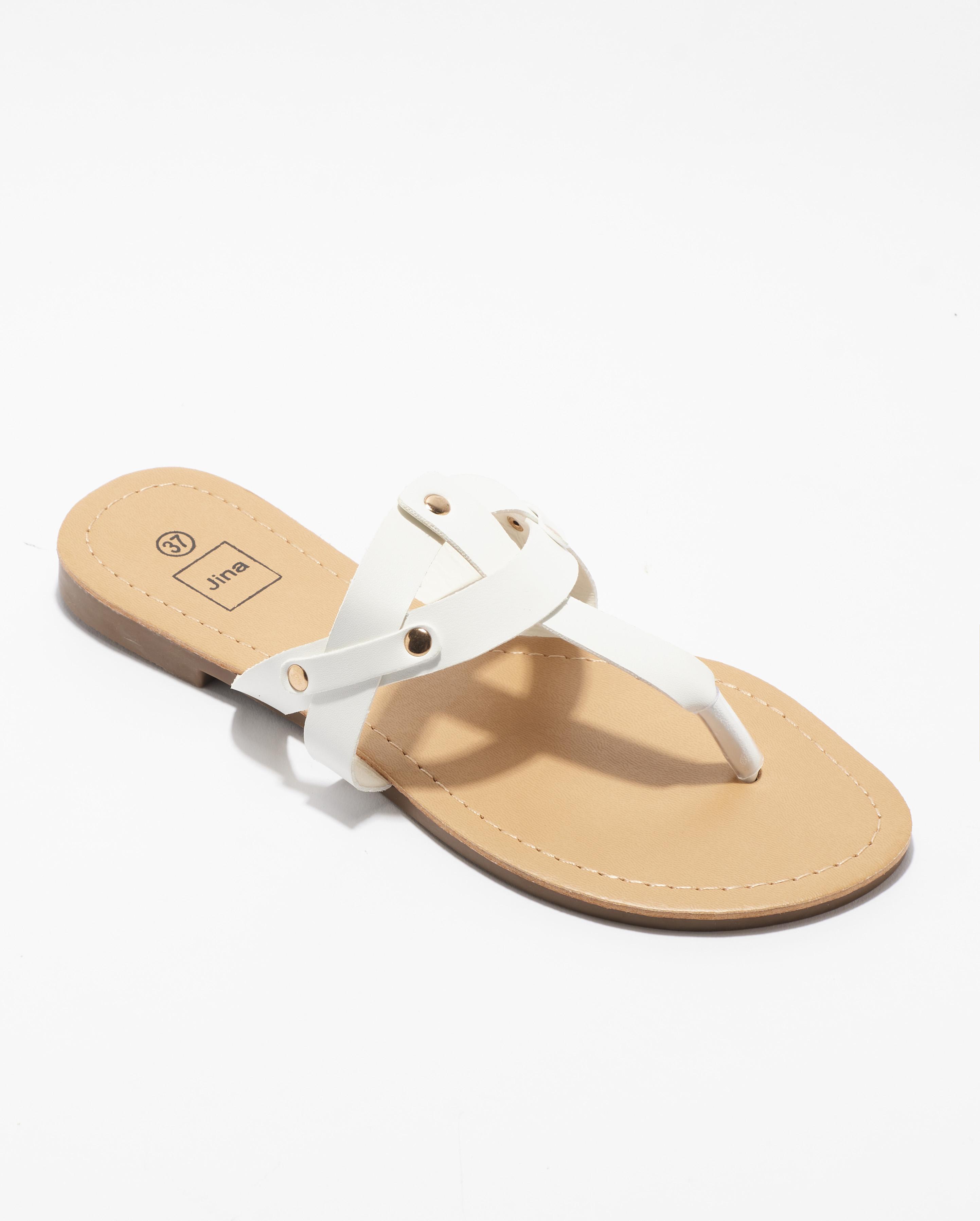 Mules Femme - Mule Plate Blanc Jina - Mupl Zh2