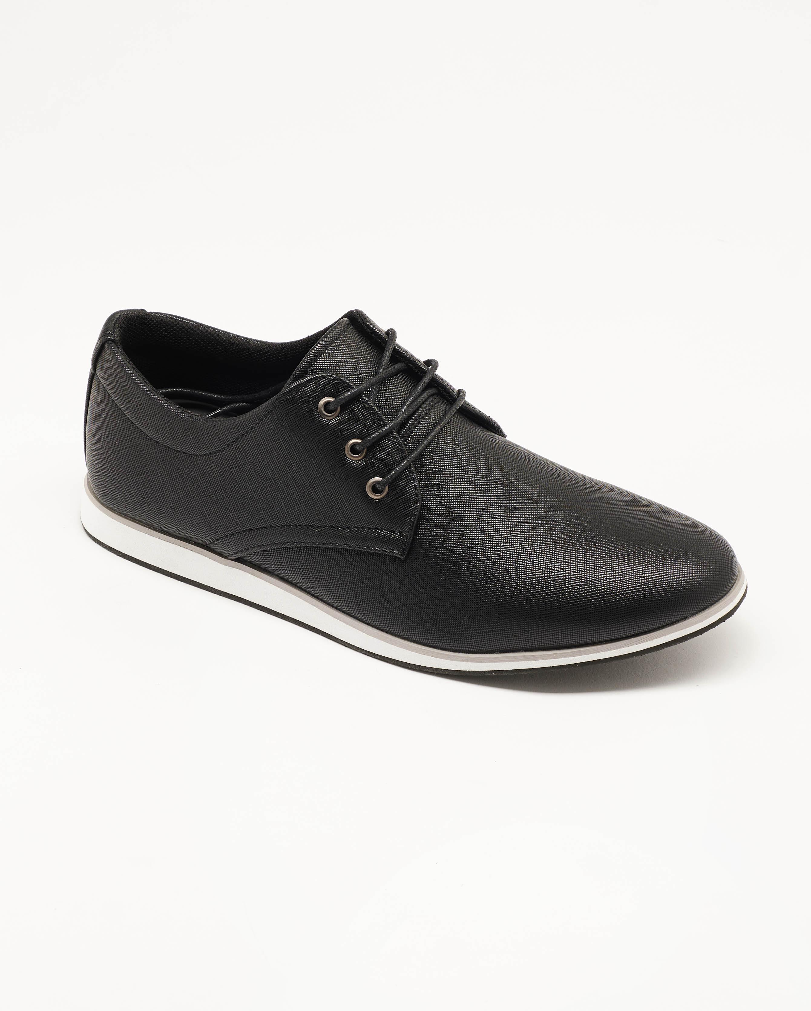 Chaussures De Ville Homme - Sneakers Noir Jina - U2111-07
