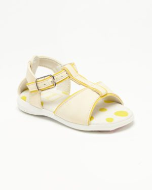 Sandales Bébé Fille - Sandale Ouverte Creme Jina - Ydx0220n-1