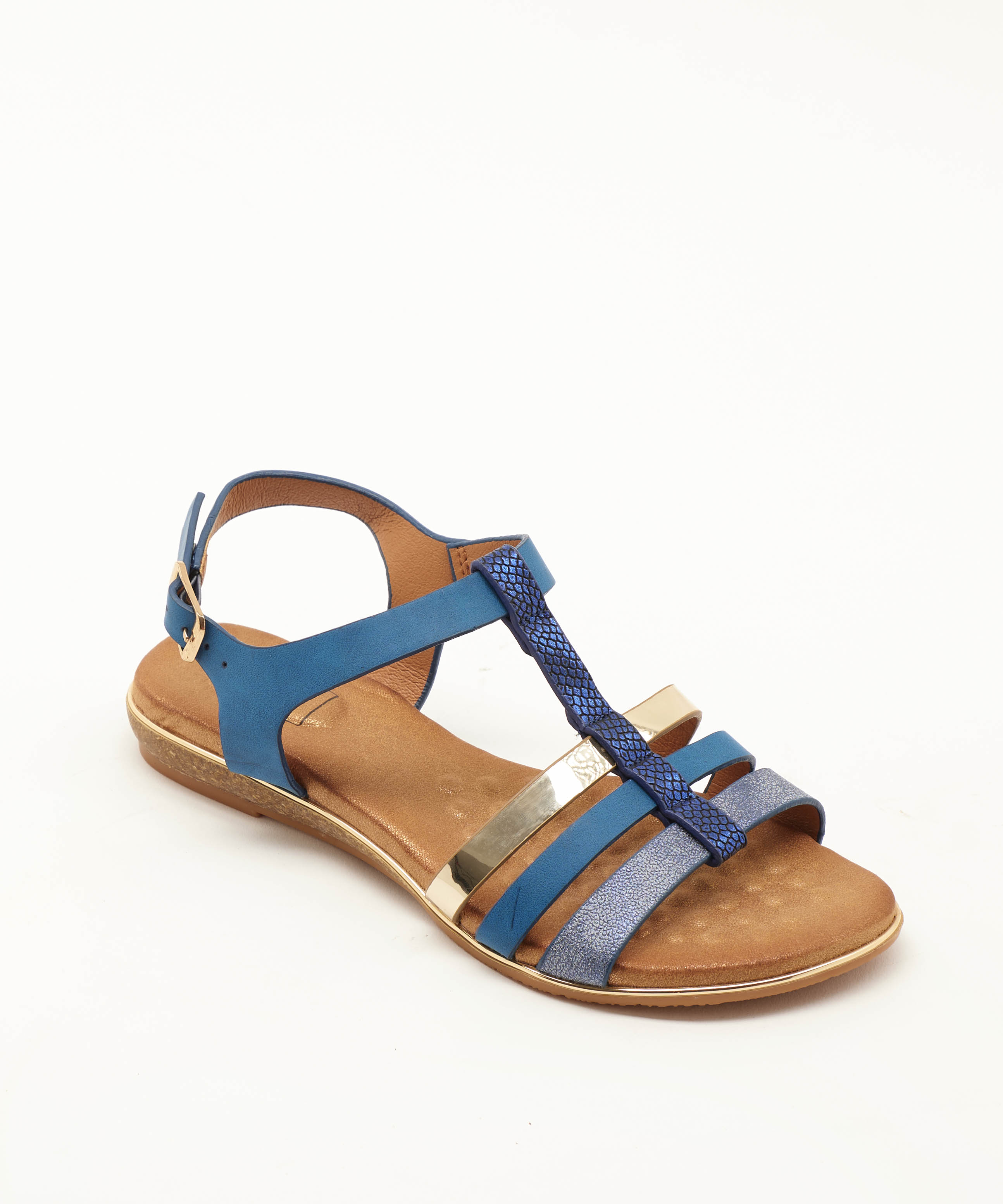 Sandales Plates Femme - Sandale Plate Marine Jina - 17hqf8883-215