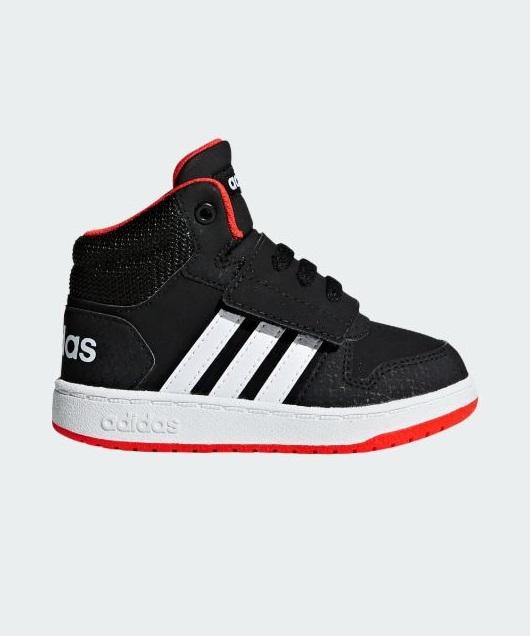 Baskets Garçon - Basket Noir Adidas - Hoops Miod B75945