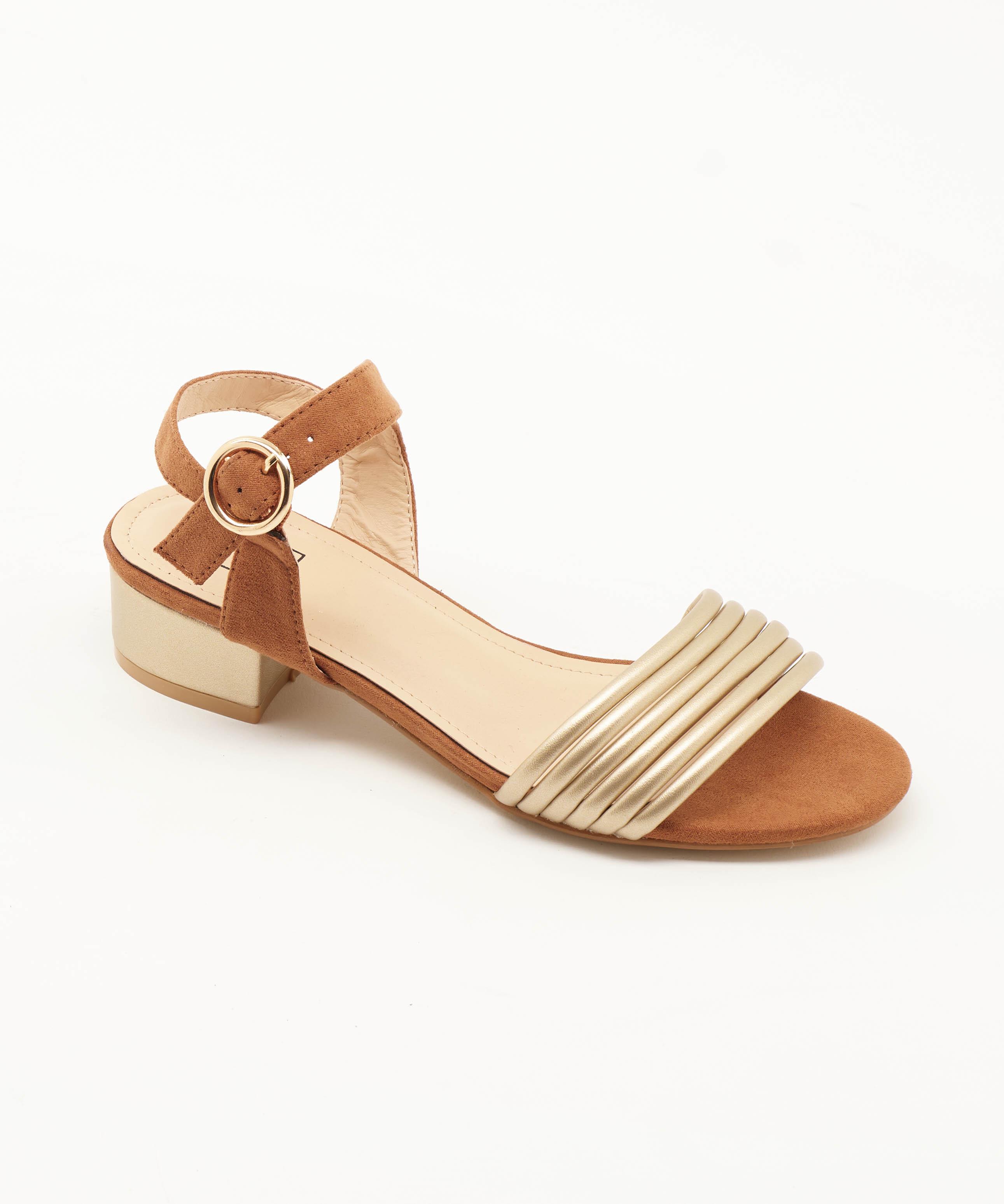 Sandales À Talons Femme - Sandale Talon Decrochee Camel Jina - Lj603-6a