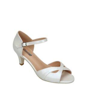 Sandales À Talons Femme - Sandale Talon Decrochee Blanc Jina - A1-0412h