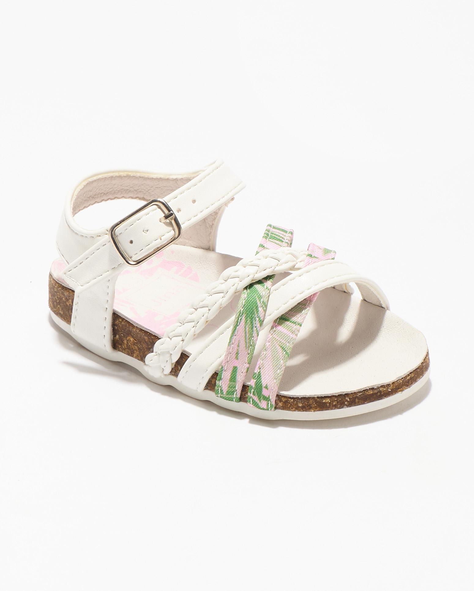 Sandales Bébé Fille - Sandale Ouverte Blanc Jina - Ydxls029-Jn1