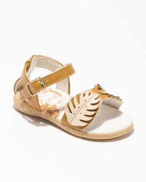Sandales Bébé Fille - Sandale Ouverte Camel Jina - Ydx0253-Jn1