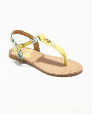 Sandales Fille - Sandale Ouverte Jaune Jina - Ydx0212-Jn Jf
