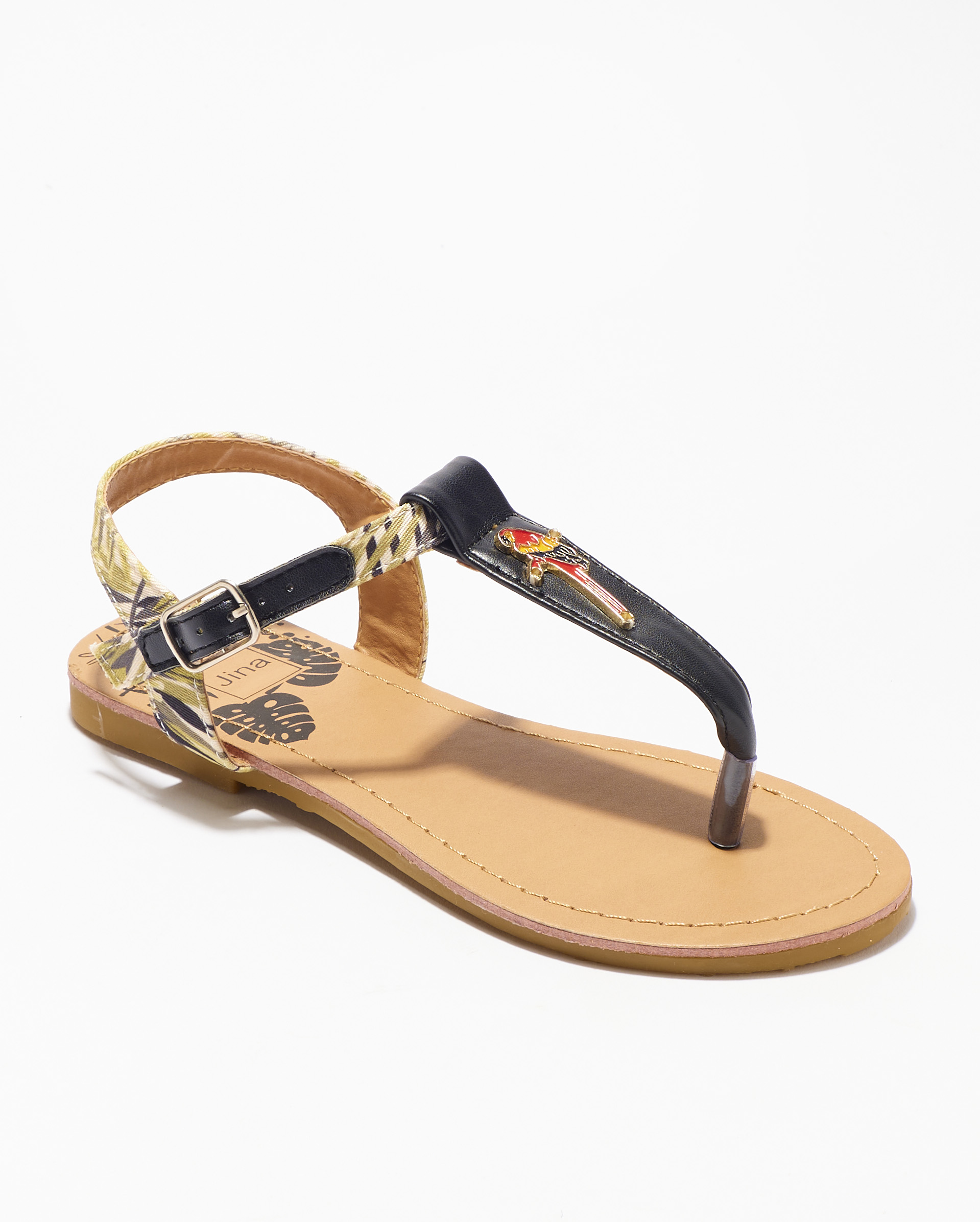Sandales Fille - Sandale Ouverte Noir Jina - Ydx0212-Jn Jf