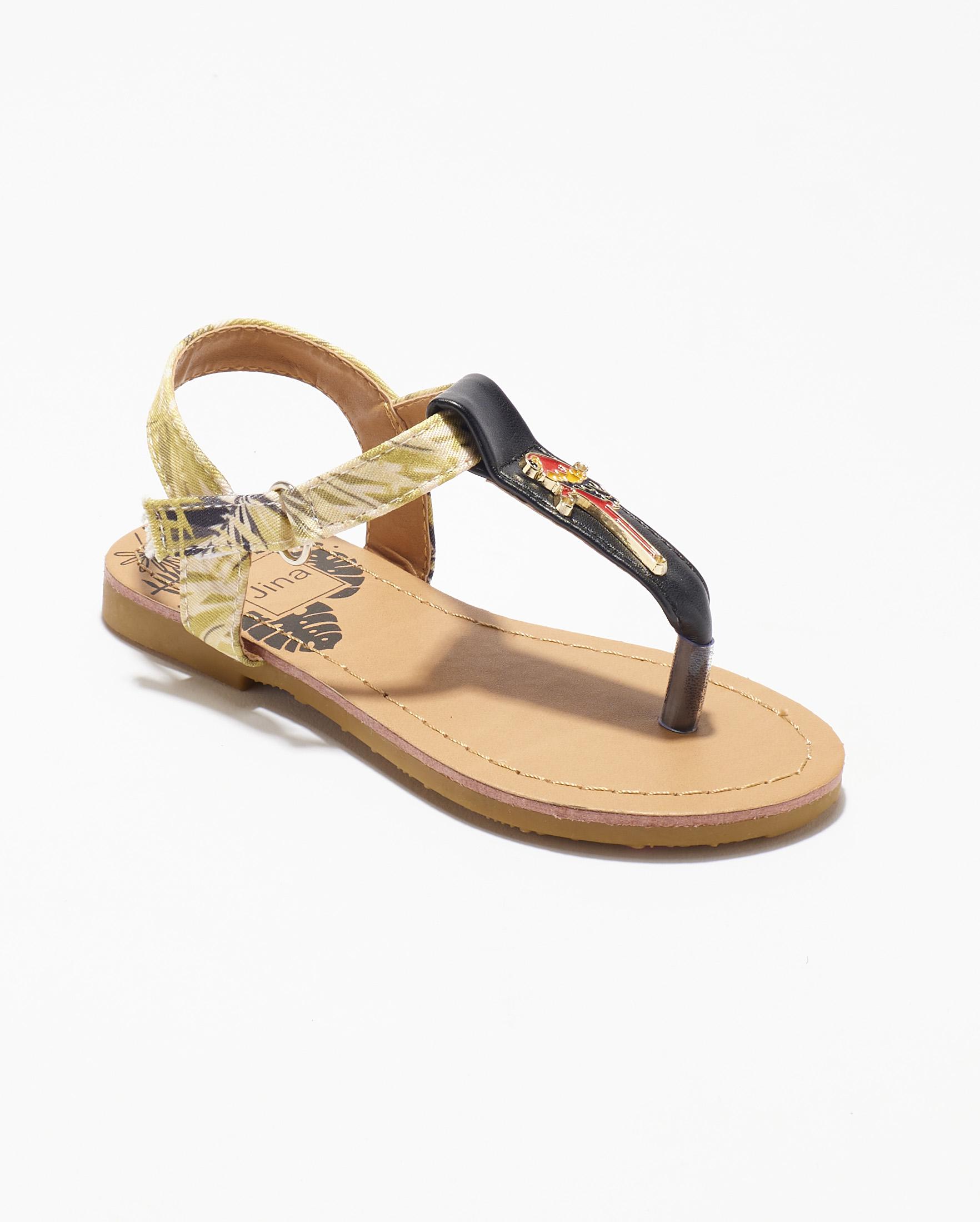 Sandales Fille - Sandale Ouverte Noir Jina - Ydx0212-Jn Ef