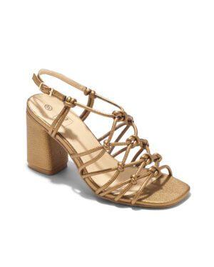 Sandales À Talons Femme - Sandale Talon Decrochee Cuivre Jina - Ls2154-15