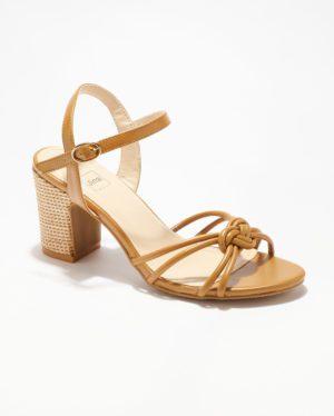 Sandales À Talons Femme - Sandale Talon Decrochee Camel Jina - Ls2121-7