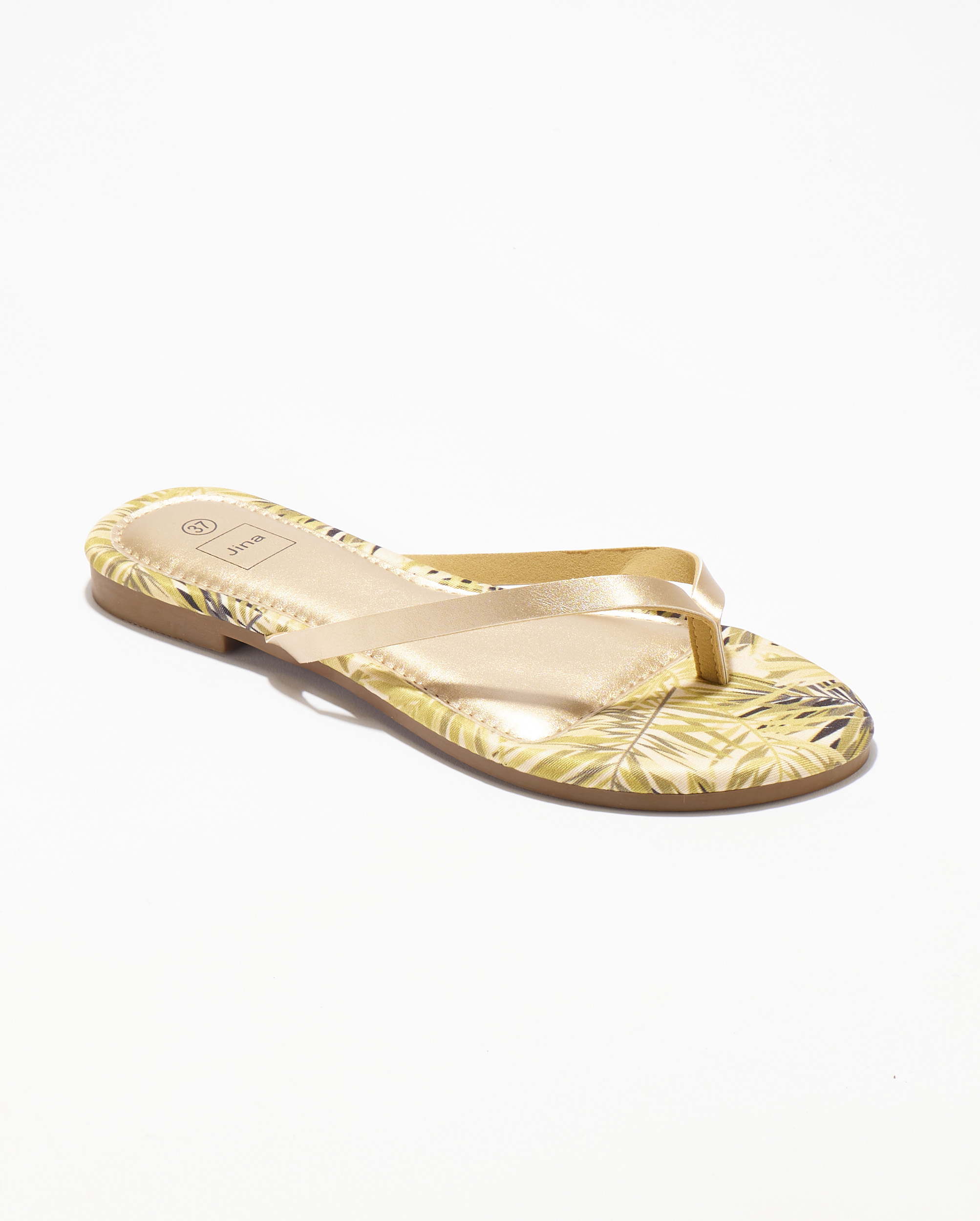 Mules Femme - Mule Plate Or Jina - Style 5 Zh 2021