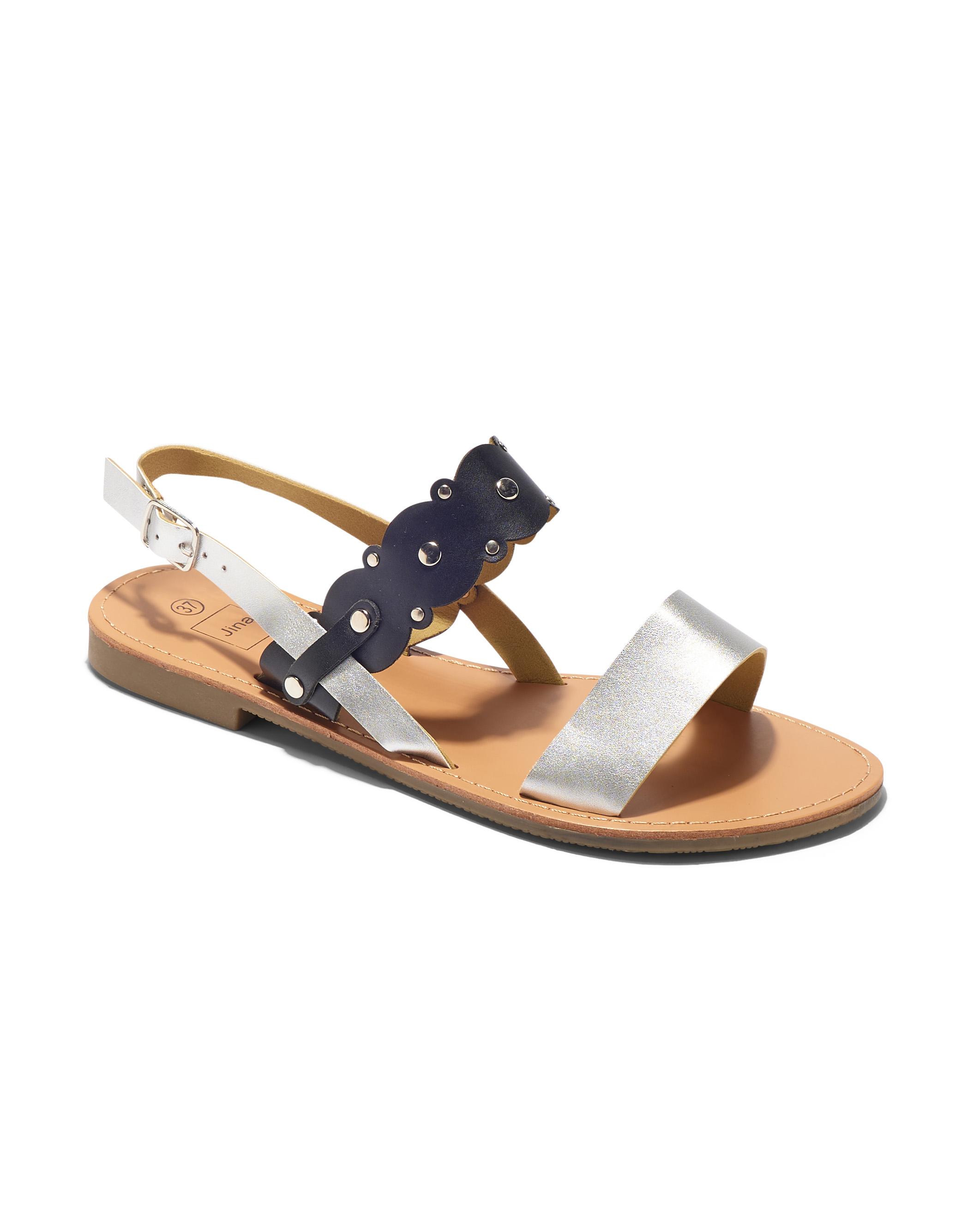 Sandales Plates Femme - Sandale Plate Noir Jina - Style 3 Zh 2021