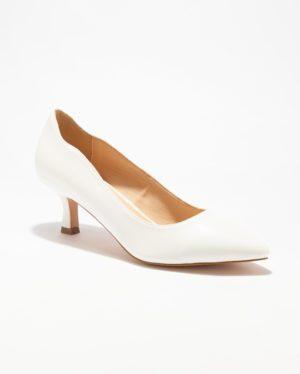 Escarpins Femme - Escarpin Ferme Blanc Jina - Mgh03-01