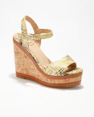 Sandales Compensées Femme - Sandale Talon Compensee Imprime Jina - Hx9871-1a