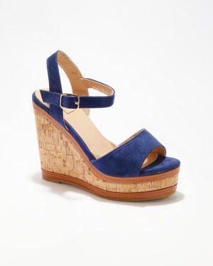 Sandales Compensées Femme - Sandale Talon Compensee Marine Jina - Hx9871-1a