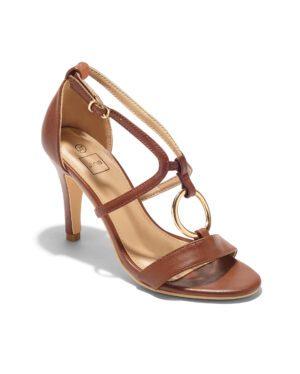 Sandales À Talons Femme - Sandale Talon Decrochee Camel Jina - Gf71-3a-2