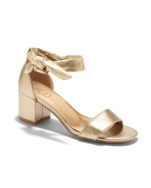 Sandales À Talons Femme - Sandale Talon Decrochee Or Jina - Lja5139-1a