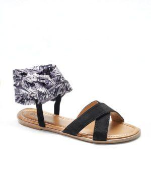Sandales Plates Femme - Sandale Plate Noir Jina - Style 2 Zh 2021