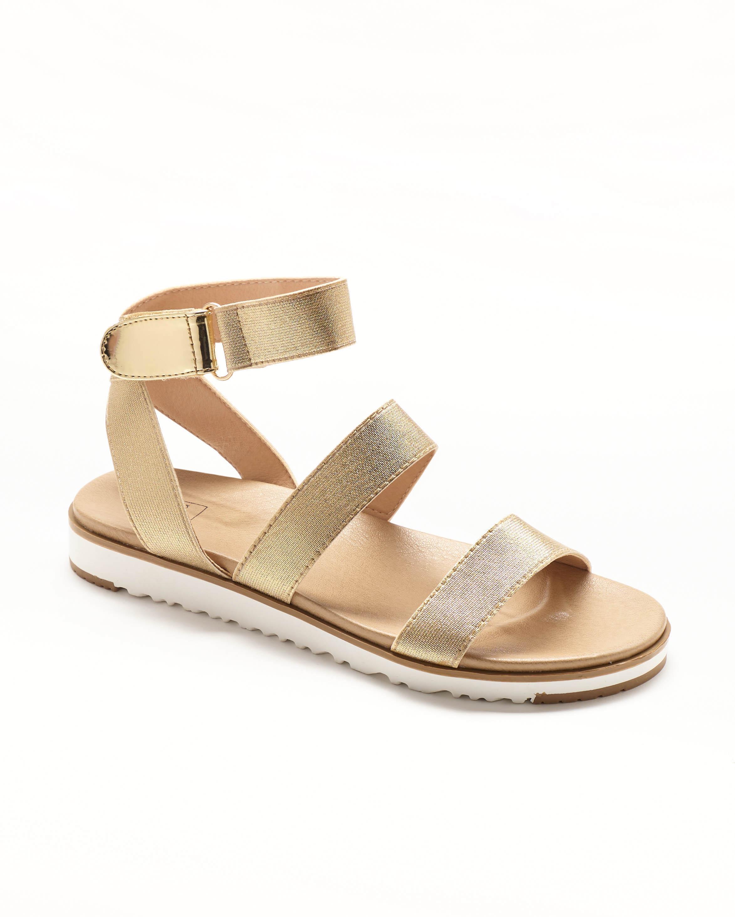 Sandales Plates Femme - Sandale Plate Or Jina - M20s1463-24