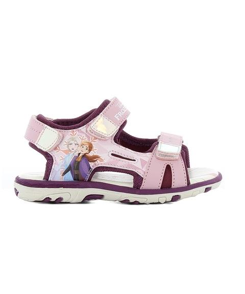Sandales Fille - Sandale Ouverte Rose La Reine Des Neiges - Fr002270