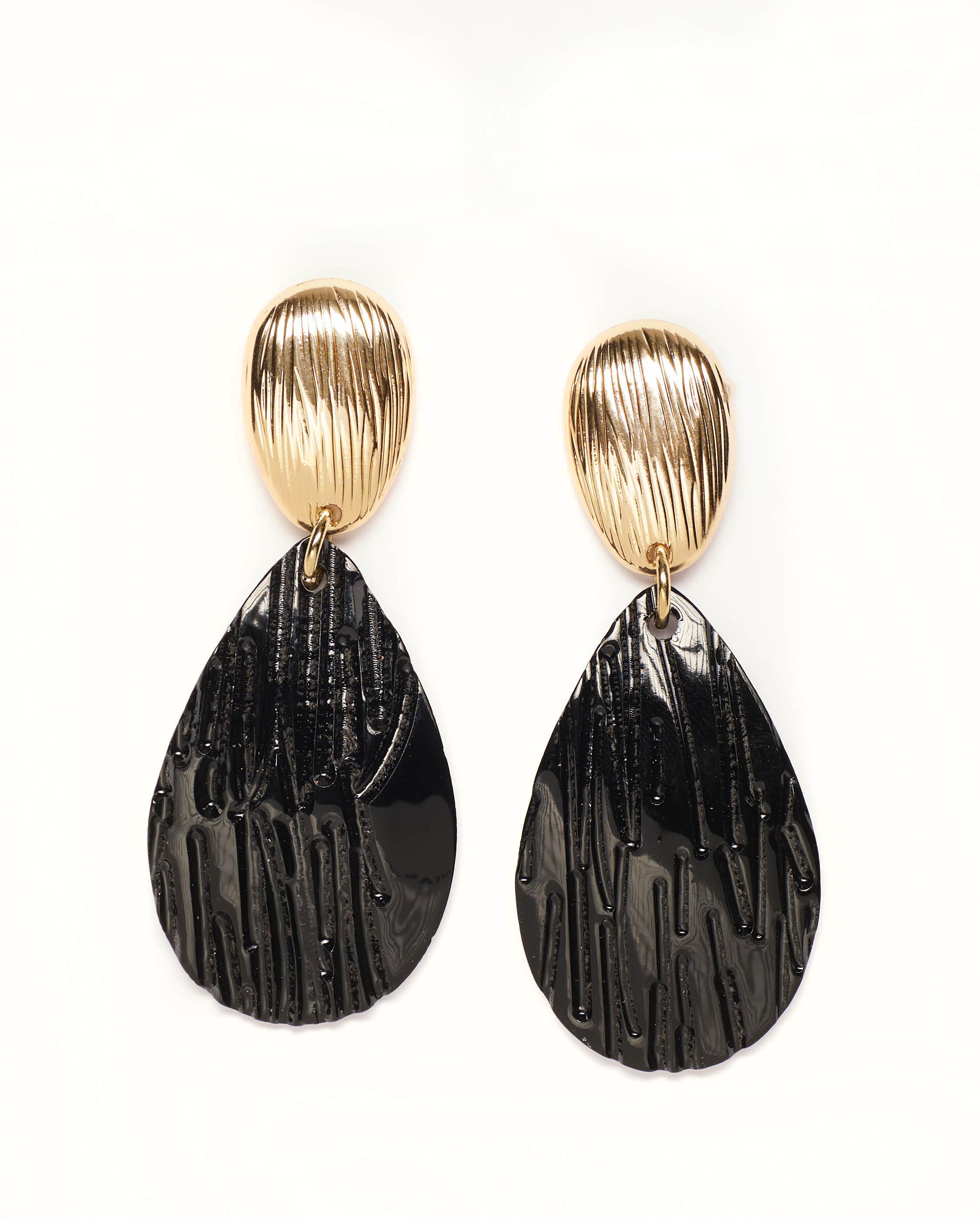 Bijoux Femme - Boucle D'Oreille Noir Jina - 36286
