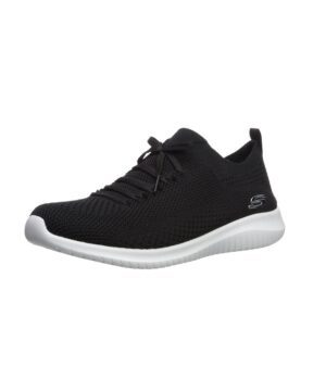 Baskets Femme - Basket Noir Skechers - 12841 Ultra Flex Statement