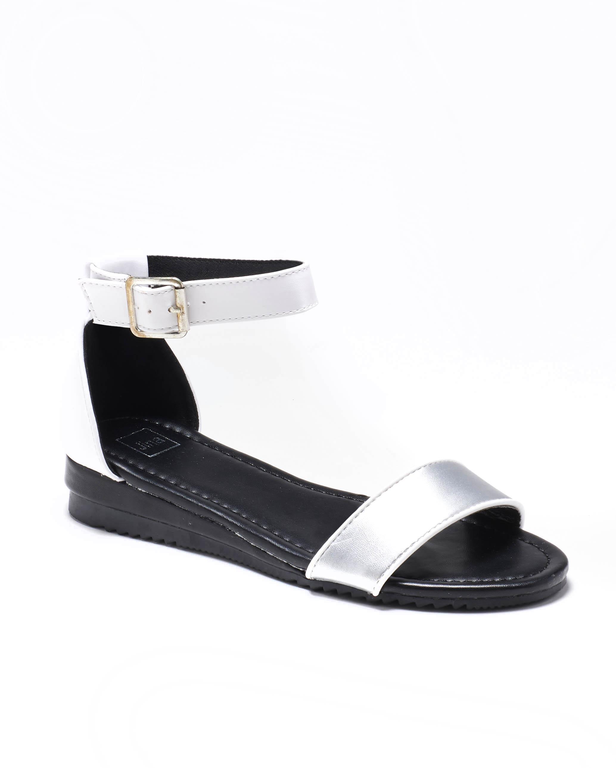 Sandales Compensées Femme - Sandale Talon Compensee Blanc Jina - Fs19-112904