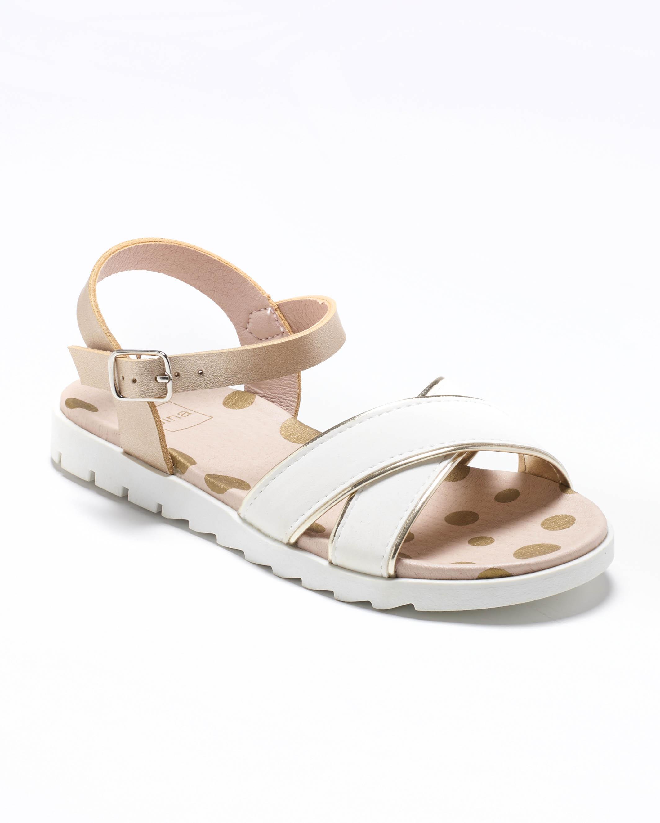 Sandales Fille - Sandale Ouverte Blanc Or Jina - Ydxls1826m-2