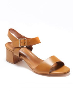 Sandales À Talons Femme - Sandale Talon Decrochee Camel Jina - Ve074
