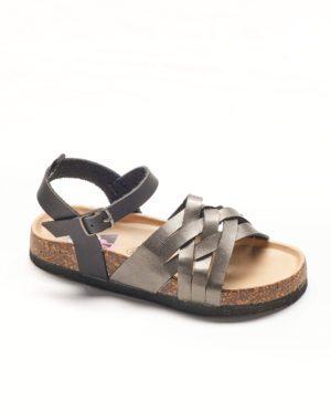 Sandales Fille - Sandale Ouverte Noir Jina - T000102 Ef